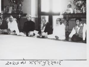 २०२७ सालको मदन पुरस्कारद्वारा सम्मानित 'नेपाली निर्वाचनको रूपरेखा'का स्रस्टा श्री महानन्द सापकोटा