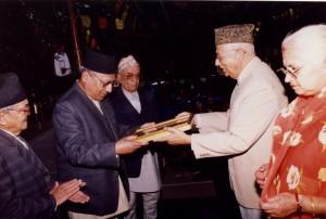 २०५८ सालको मदन पुरस्कारद्वारा सम्मानित 'अभिनव संस्कृति कोष'का स्रस्टा श्री हरिराम जोशी